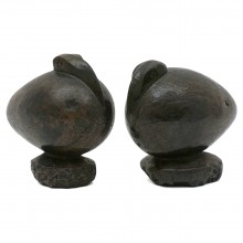 Pair of Polished Stone Birds