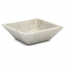 White Square Marble Dish