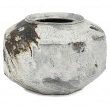 Large Octagonal Ceramic Vase