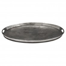 Oval Polished Steel Tray