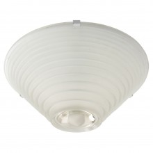 Stepped Frosted Glass Ceiling Fixture