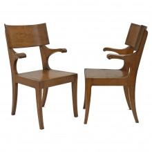 Pair of Oak Armchairs