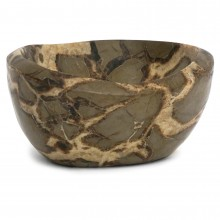 Taupe and Beige Marble Dish