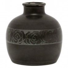 Brown and Silver Jean Luc Vase