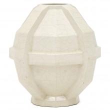 Ivory Ceramic Crackle Glazed Vase