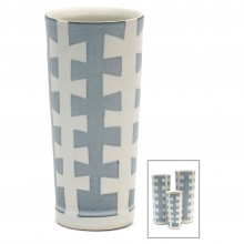 "Porcelain ""Zipper"" Vase"