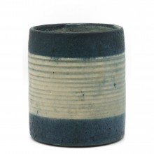 Blue and Beige Vase