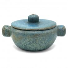 Dutch Blue Ceramic Bowl with Lid
