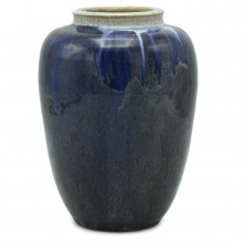 Dutch Blue Drip Glazed Vase