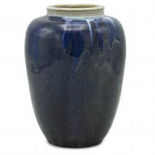 Dutch Blue Drip Glazed Vase