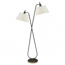 Steel Two Light Standing Lamp