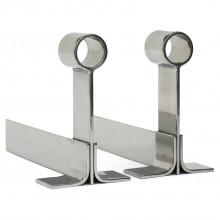 Polished Steel Andirons