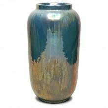 Light Blue Green Iridescent Vase