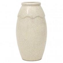 White Crackle Vase