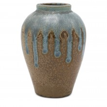 Light Blue and Beige Vase