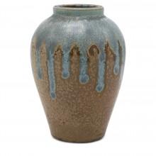 Light Blue and Beige Vase