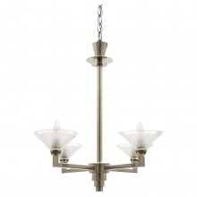 Polished Steel Four Light Chandelier