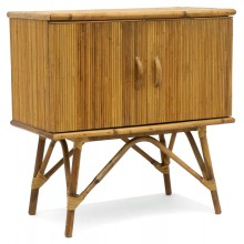 French Bamboo Two Door Cabinet