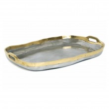 Aluminum and Brass Tray by David Marshall