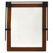 Mahogany Mirror with Ebonized Details