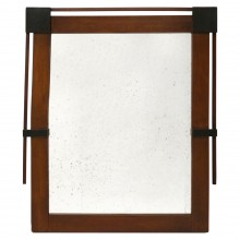 Mahogany Mirror with Ebonized Details