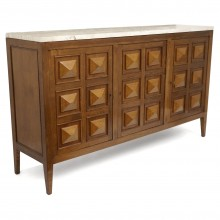 Italian Oak Three Door Sideboard