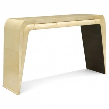 Italian Parchment Clad Console Table
