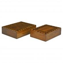 """Pair of Inlaid Italian """"Secret"""" Boxes"""