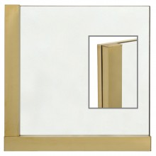Brass Mirror with Asymetrical Border