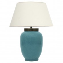 Robin's Egg Blue Crackle Lamp