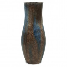 Blue and Brown Stoneware Vase