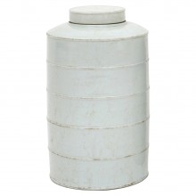 White Ironstone Cannister