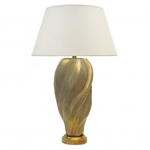Gold Ceramic Free-Form Lamp