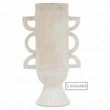 White Ceramic Shaped Vase by John Born