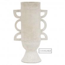 White Ceramic Shaped Vase by John Born