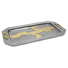 Aluminum and Brass Tray