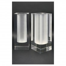 Pair of Lucite Vases