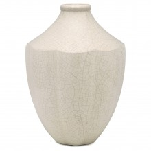 White Crackle Ceramic Vase