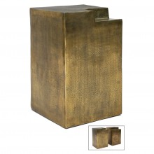 Bronze Finished Metal Side Table