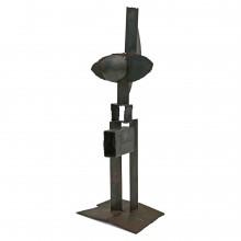 Iron Abstract Brutalist Sculpture