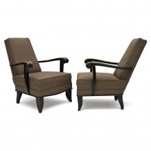 Pair of French Upholstered Armchairs