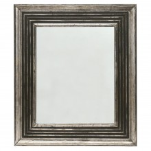Silver Gilt Wood and Black Framed Mirror