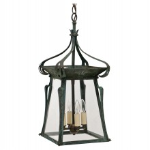 Art Nouveau Patinated Lantern
