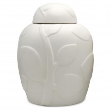White Porcelain Jar With Lid