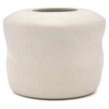 Shaped White Ceramic Vase