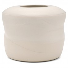 Shaped White Ceramic Vase