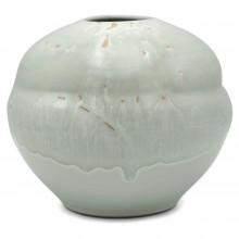 Shaped Celadon Drip Vase