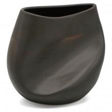 Crushed Brown Stoneware Vase