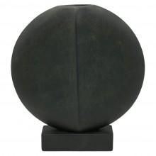 Spherical Flat Vase on Rectangular Base