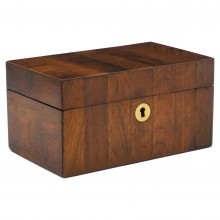 Striped Wood Tea Caddy